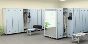 What are the benefits of the compact laminate lockers for you and your employees